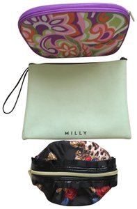 Betsey Johnson; Clinique; Milly Cosmetic Bags (3) Misc. sizes and colors. All with zippers