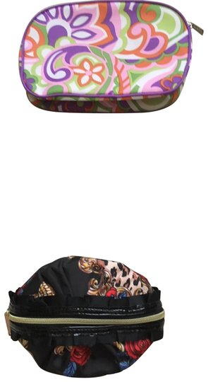 Betsey Johnson; Clinique; Milly Cosmetic Bags (3) Misc. sizes and colors. All with zippers Image 1