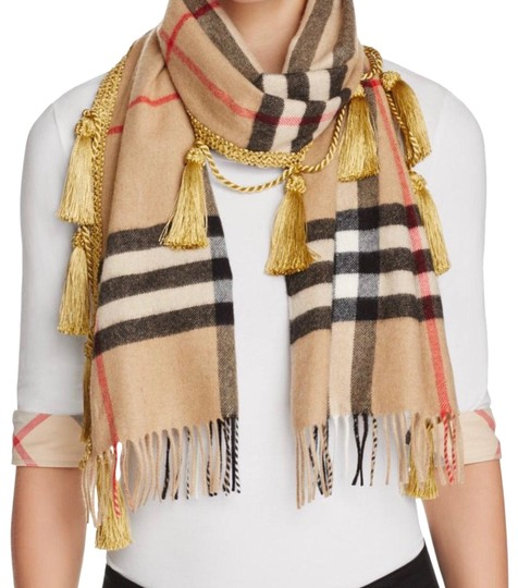 Preload https://img-static.tradesy.com/item/23733767/burberry-camel-giant-check-tassels-scarfwrap-0-1-540-540.jpg