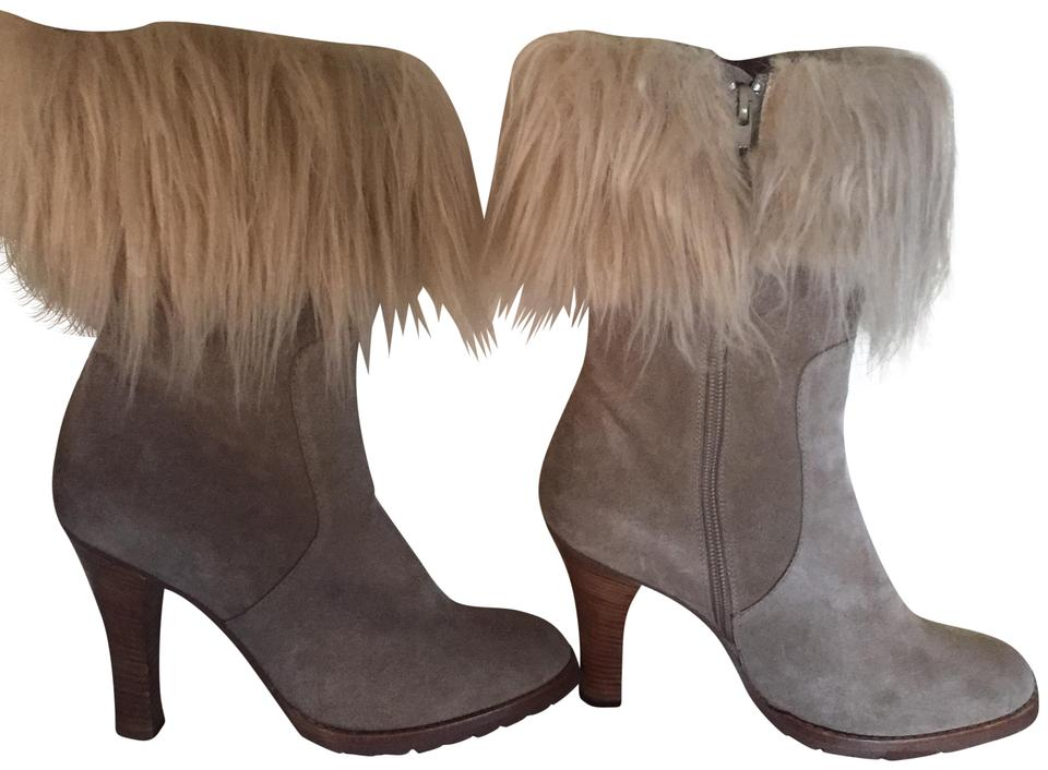 Marc Jacobs Tan Shearling Suede Booties Boots and OOrw7q