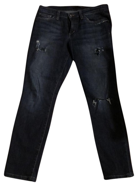 Item - Blue Distressed Mid-rise Skinny Jeans Size 6 (S, 28)
