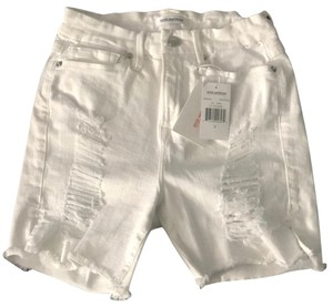 Good American Cut Off Shorts White