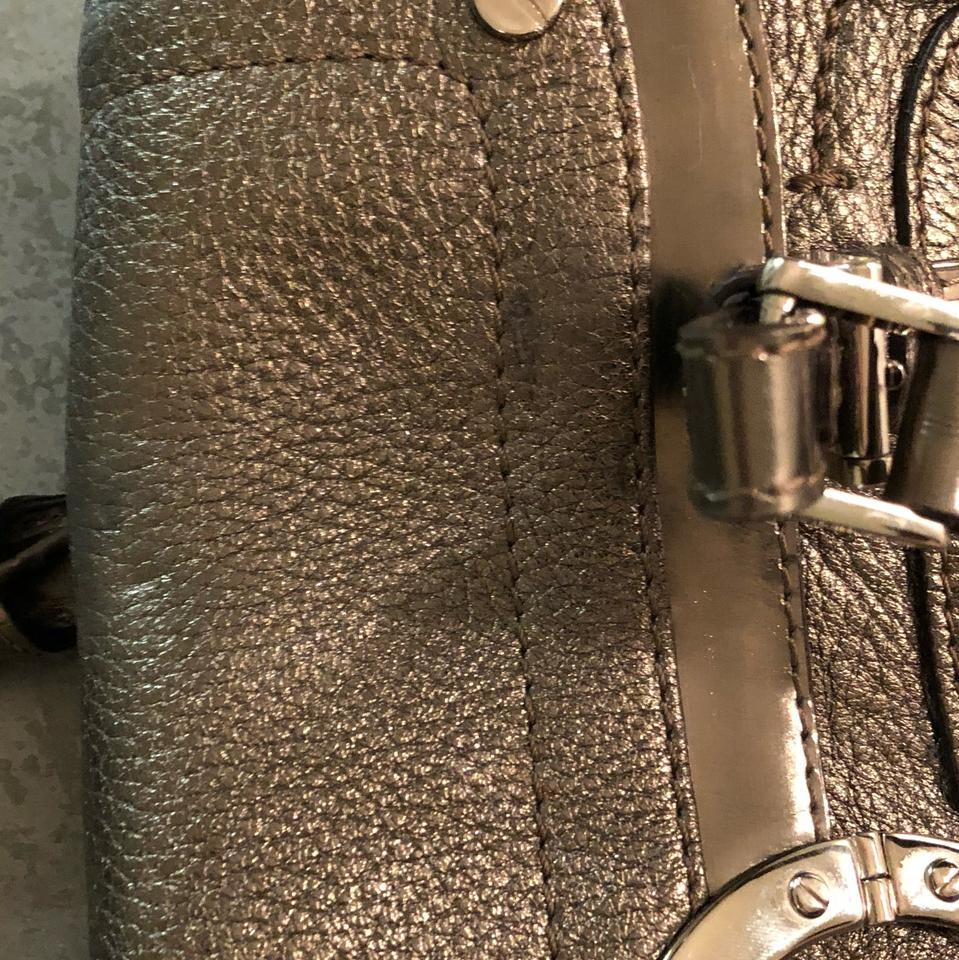 Satchel Versace Versace Leather Leather Versace Silver Silver Silver Satchel Leather Satchel 7qROw7A