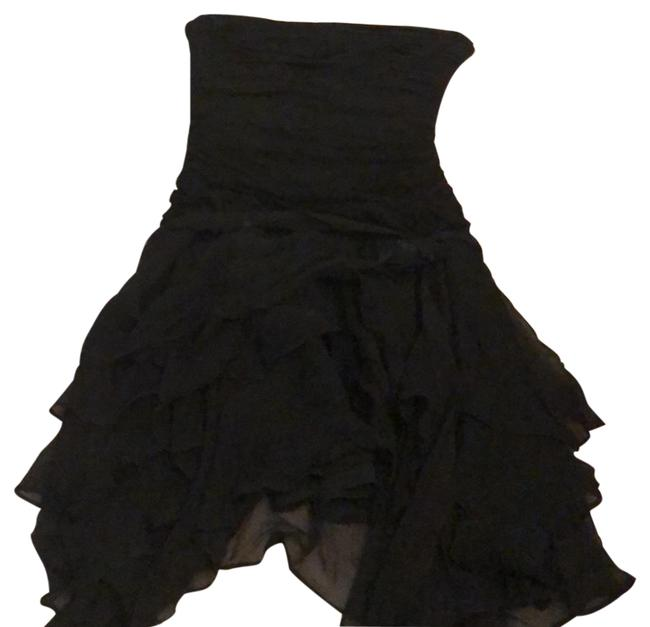 Preload https://img-static.tradesy.com/item/23733860/bebe-black-ruffle-detail-tube-short-cocktail-dress-size-2-xs-0-1-650-650.jpg