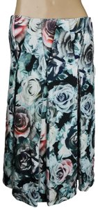 Ro & De Floral Pockets Pleated Skirt Blue