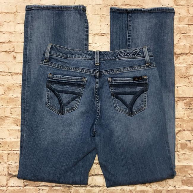 Seven7 Flare Leg Jeans-Medium Wash Image 3