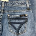 Seven7 Flare Leg Jeans-Medium Wash Image 4