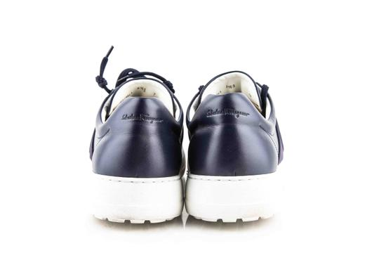 Salvatore Ferragamo Blue Gancio Sneakers Shoes Image 4