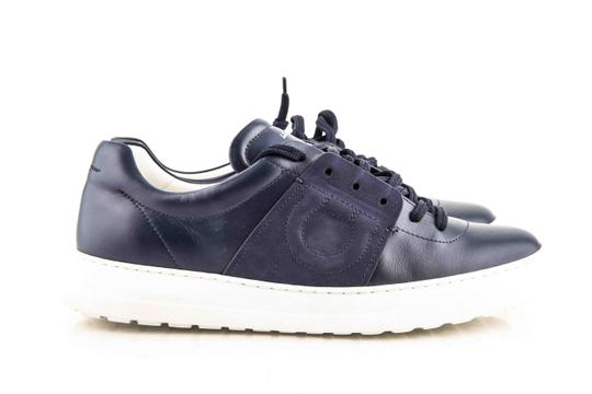 Salvatore Ferragamo Blue Gancio Sneakers Shoes Image 5