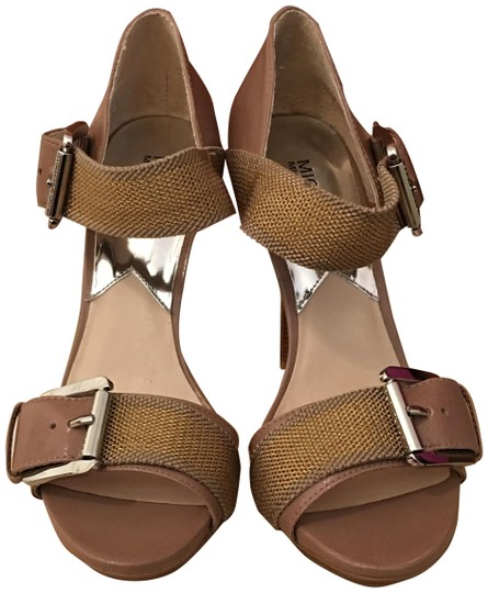 MICHAEL Michael Kors Taupe/Gold Sandals Image 0