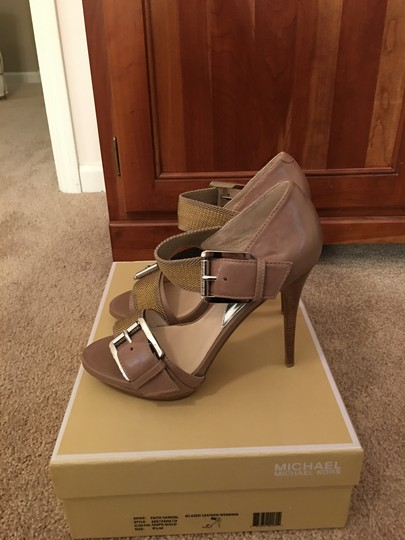 MICHAEL Michael Kors Taupe/Gold Sandals Image 10