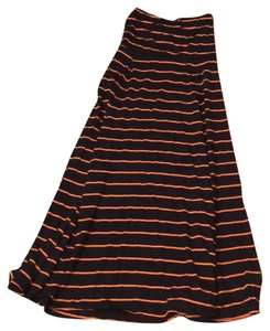 Gap Maxi Skirt navy and orange