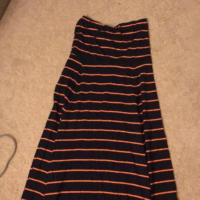 Gap Maxi Skirt navy and orange Image 1