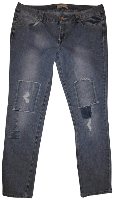 Preload https://img-static.tradesy.com/item/23734043/lei-blue-distressed-ashley-lowrise-patch-knees-faded-stretchy-denim-skinny-jeans-size-34-12-l-0-1-650-650.jpg