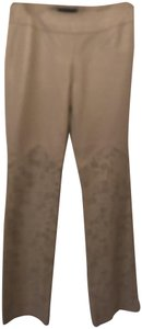 Moda International Leather Straight Pants Cream