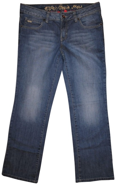 Preload https://img-static.tradesy.com/item/23734173/esprit-blue-light-wash-faded-stretchy-low-rise-denim-boot-cut-jeans-size-30-6-m-0-1-650-650.jpg