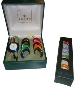1009d193f3b Gucci Multi Color Bezels. With Change Face Bands Watch - Tradesy