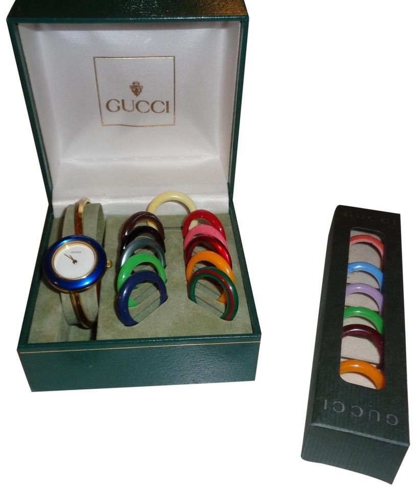 Gucci Multi Color Bezels  With Change Face Bands Watch