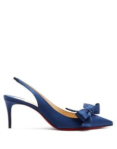 Christian Louboutin Heels Sling Yasling Bow China Blue Sandals
