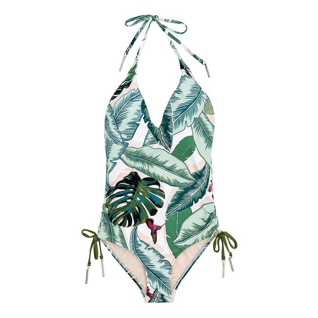 SeaFolly Seafolly Palm Beach Deep V Maillot One Piece Swimsuit Image 5