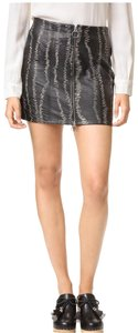 Free People Mini Skirt Black and white