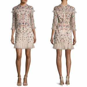 Needle & Thread Floral Embroidered Ruffle Peter Pan Collar Dress