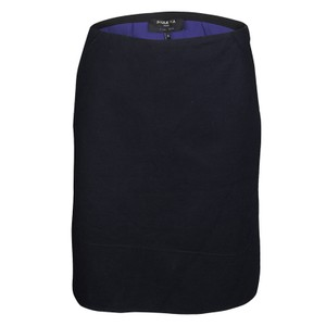 PAULE KA Cotton Viscose Polyester Mini Skirt Black