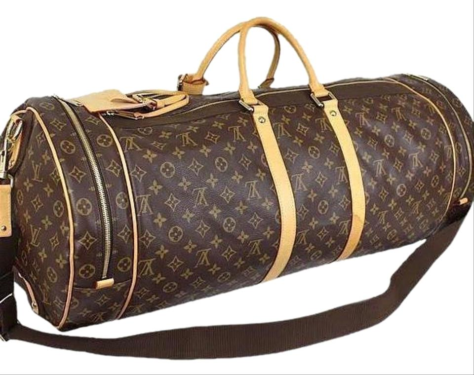 ce990987cd07 Louis Vuitton Keepall Lv Sac Athletisme Monogram M92961 with Lv Strap  Padlock and Key Brown Canvas Weekend Travel Bag