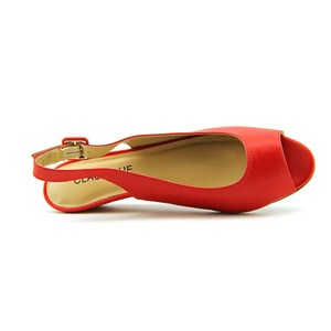 Classique Slingback red Wedges