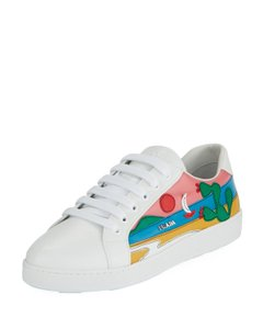 Prada White/Green/Pink/Blue Athletic