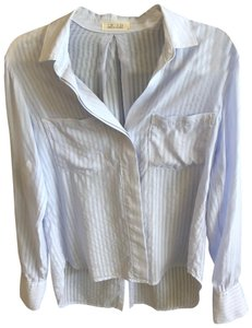 Bella Dahl Button Down Shirt pale blue