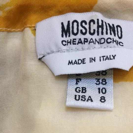 Moschino Cream W/ Grey & Yellow Top - 80% Off Retail good