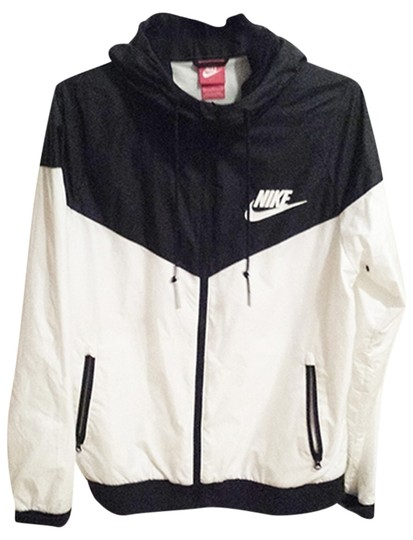 261a066b79 85%OFF Nike Black And White Hooded Windbreaker Jacket - 50% Off Retail