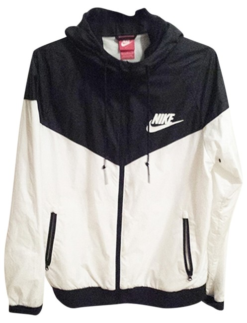 3a1c2910e Nike Black and White Hooded Windbreaker Activewear Outerwear Size 8 ...