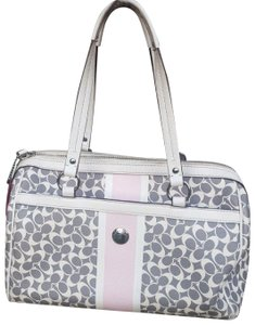 Coach Chelsea Handbag Satchel Tote in Gray/White/Light Pink