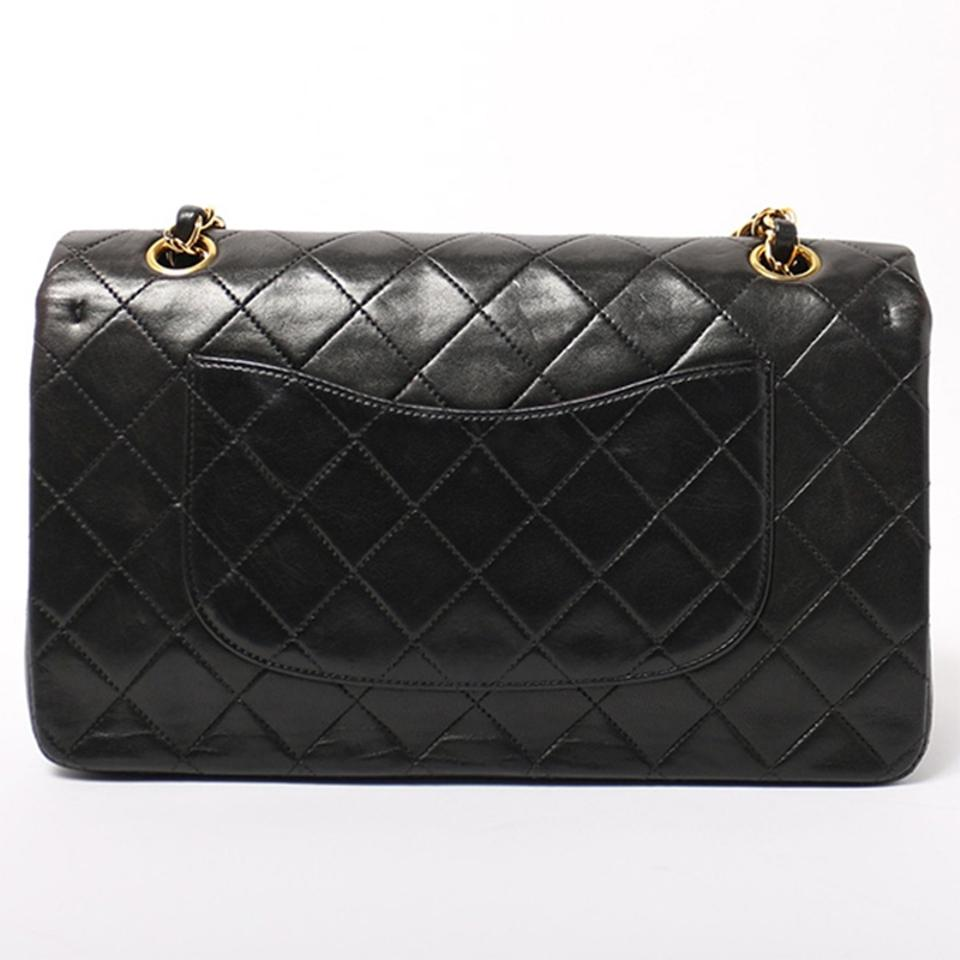 399425290752 Chanel Classic Flap Vintage Quilted Black Lambskin Shoulder Bag ...