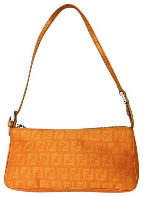 Item - Classic Zucchino Orange Canvas Leather Baguette