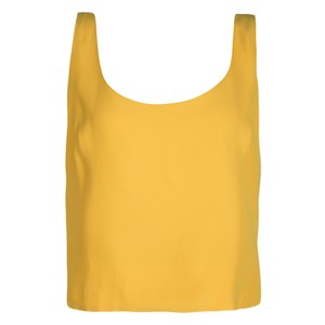 6bbdcc1bba946 Moschino Fitted Sleeveless Crop Rayon Top Yellow. Moschino Yellow Fitted  Sleeveless Crop L Tank Top Cami Size 12 ...