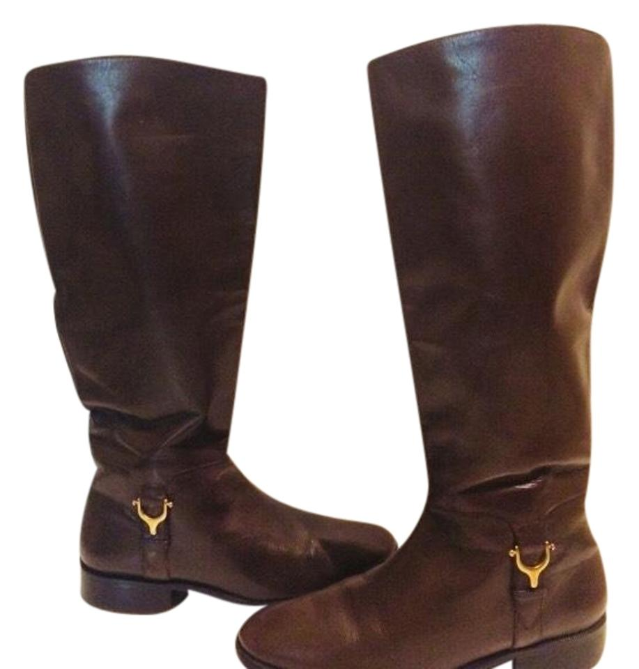 Etienne Aigner Aigner Etienne Brown Brazilian Leather Boots/Booties a02539