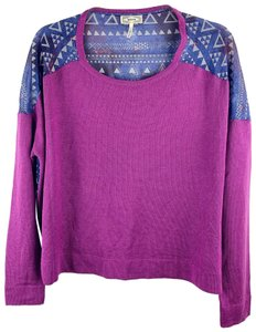 Kirra Aztec Southwest Dolman Batwing Striped Sweater