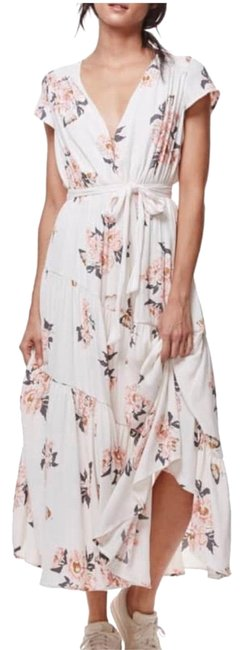 Item - Cream with Floral Print All I Got Long Casual Maxi Dress Size 0 (XS)