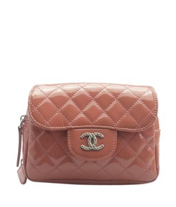 18736e03c1eb Chanel Chanel WOC Pink Quilted Patent Leather Bag (153504)