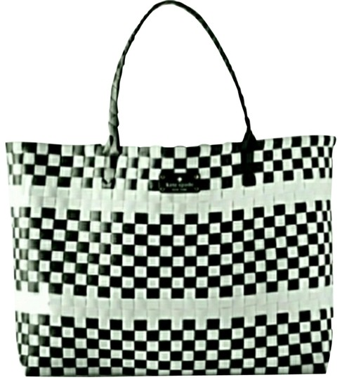 Kate Spade Limited Edition Woven Black/White Beach Bag