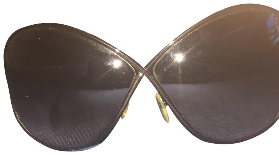 9e73d41efc Tom Ford Dark Brown Miranda Oversize Metal Sunglasses - Tradesy