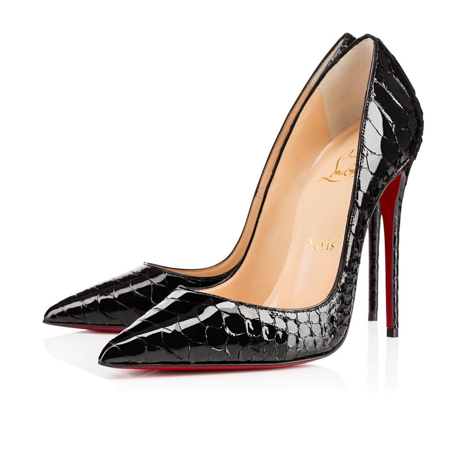 59a9a14efc1 Black Python So Kate Pumps