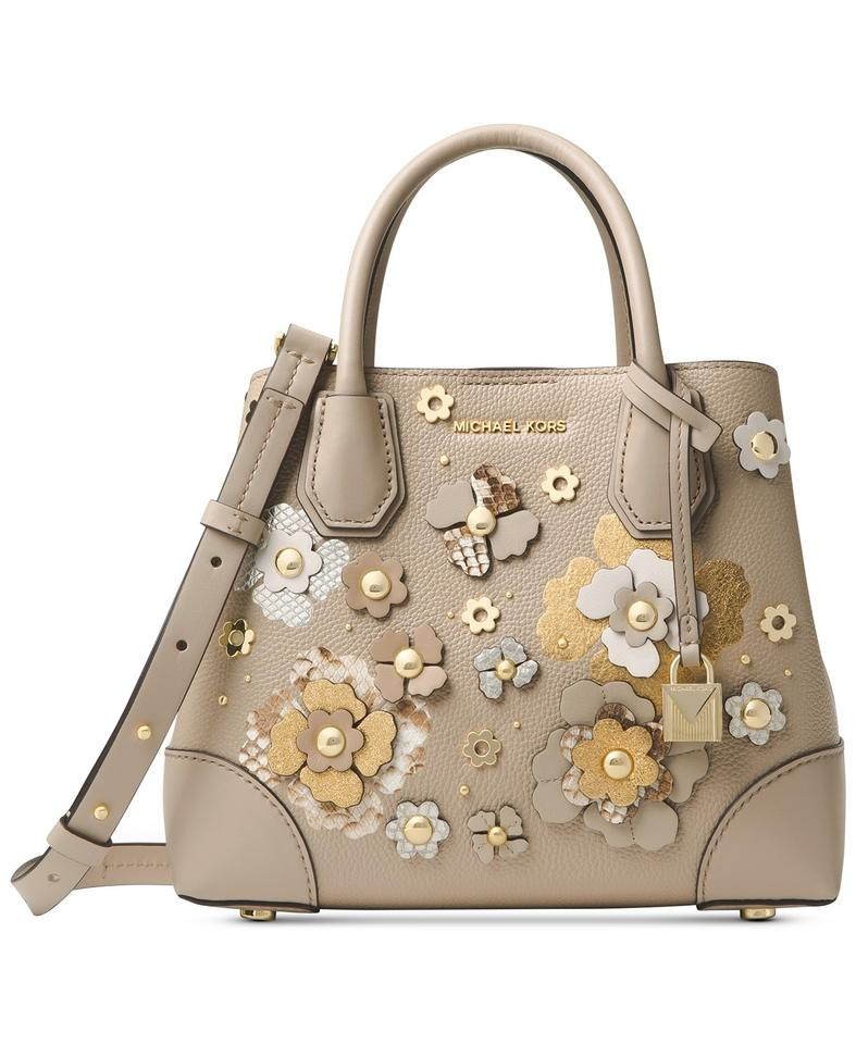 4a167cc8cfa7a Michael Kors Mercer Gallery Small Tan Taupe Oatmeal Leather Satchel ...