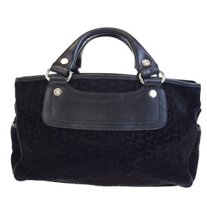 Céline Made In Italy Suede Leather Tote in BLACK