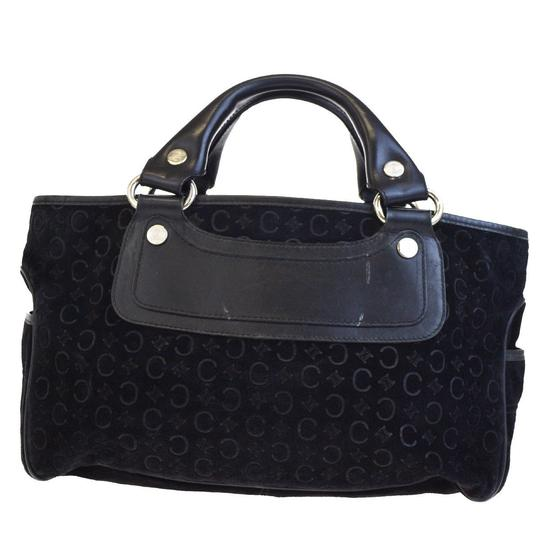 Céline Made In Italy Suede Leather Tote in BLACK Image 7