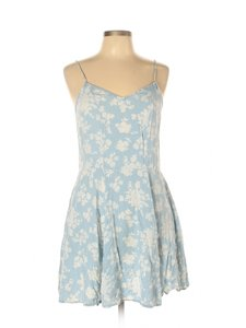 Tinseltown short dress Blue Floral Fit And Flare Sundress Sleeveless on Tradesy