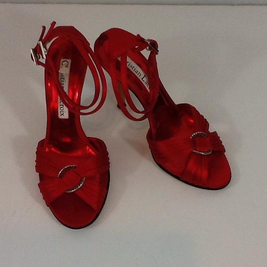 Christian Lacroix Red Sandals Image 1